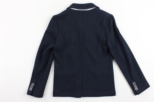 giacca tinta unita con taschino e foulard tinta unita ARMANI | Giacche | 3Y4G01BLU