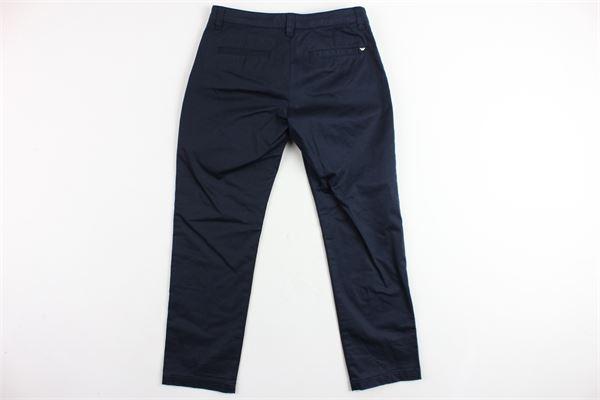 pantalone tinta unita in cotone tasca america ARMANI | Pantaloni | 3Z4P144NFEZBLU