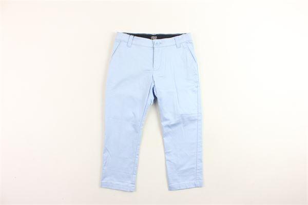 pantalone tinta unita in cotone tasca america ARMANI | Pantaloni | 3Z4P144NFEZCELESTE