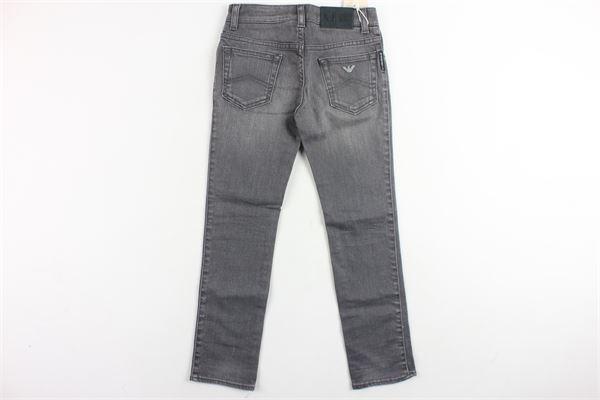 pantalone in denim 5 tasche tinta unita ARMANI | Pantaloni | 6X4J15GRIGIO