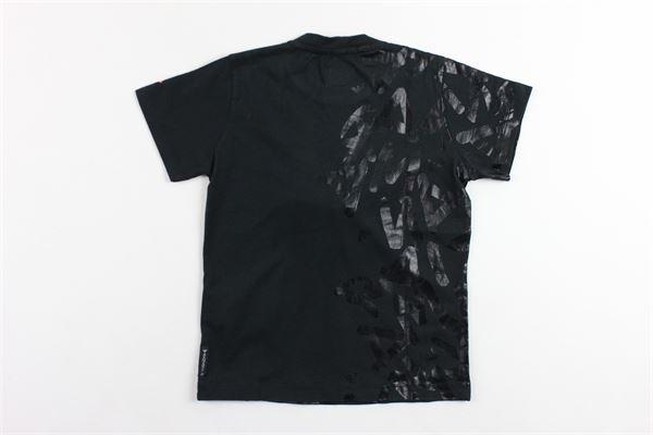t-shirt mezza manica tinta unita in cotone con stampa ARMANI | T-shirts | 6Z4T014J0GZNERO
