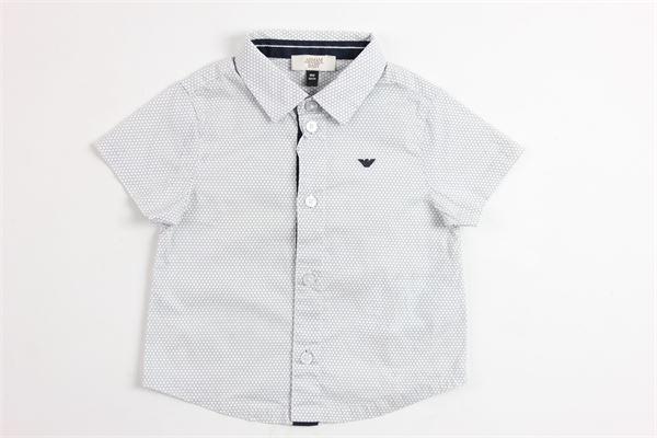 camicia mezza manica microfantasia ARMANI | Camicie | 9106BIANCO