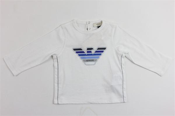 shirts manica lunga stampa logo armani ARMANI | Shirts | 9157BIANCO