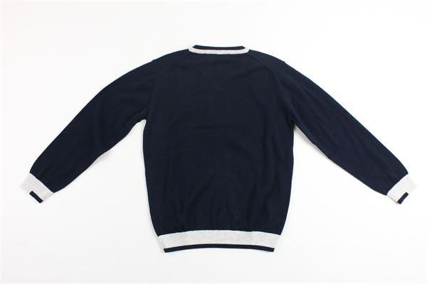 maglia tinta unita con profili in contrasto ARMANI | Maglie | 9158BLU