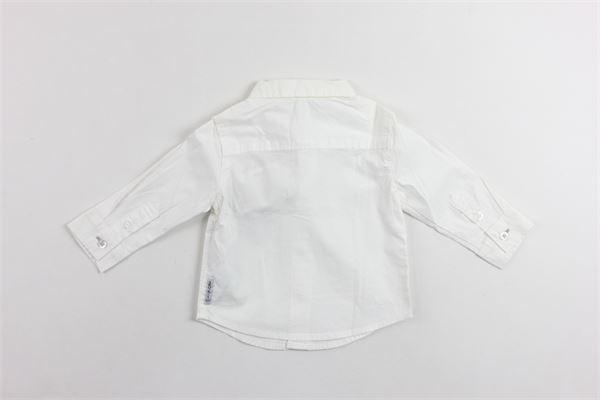 camicia manica lunga tinta unita con taschino ARMANI | Camicie | RXC30BIANCO