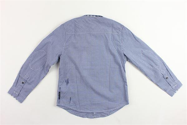 camicia manica lunga fantasia a quadri ARMANI | Camicie | RXC64BLU
