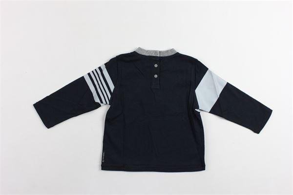 shirt manica lunga tinta unita con profili in cotrasto ARMANI | Shirts | SDH51BLU
