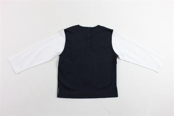 shirt manica lunga con finto gilet in contrasto ARMANI | Shirts | VDH61BIANCO