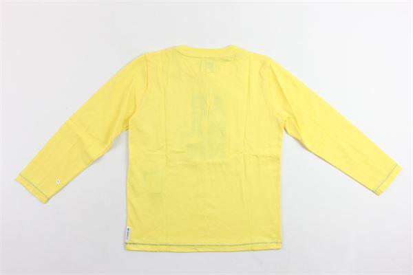 shirt manica lunga tinta unita con stampa ARMANI | Shirts | ZXH04GIALLO