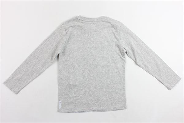 shirts manica lunga tinta unita in cotone con stampa ARMANI | Shirts | ZXH05GRIGIO