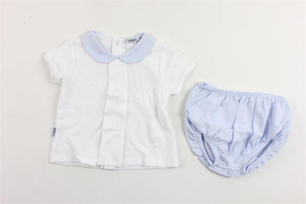 completo camicia mezza manica più coulottes BABIDU | Completi | 41120BIANCO