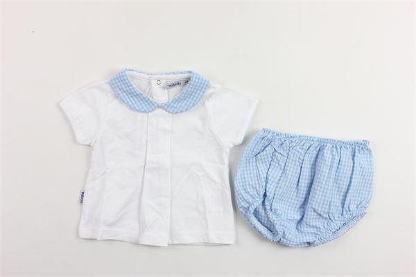completo camicia mezza manica più coulottes BABIDU | Completi | 42484BIANCO