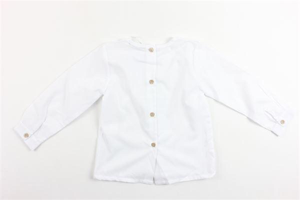 camicia manica lunga tinta unita collo coreano BABIDU | Camicie | 43120BIANCO