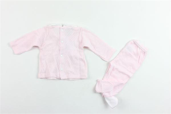 completo shirts più ghettina manica lunga in cotone BABIDU | Completi | 56240ROSA