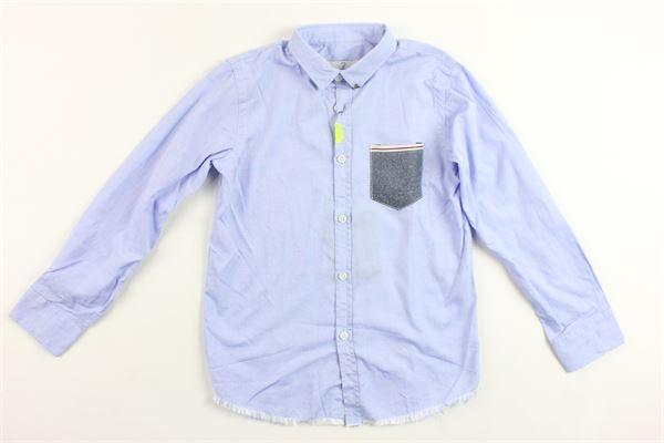 camicia manica lunga tinta unita con taschino BERNA | Camicie | BRNS9005CACELESTE