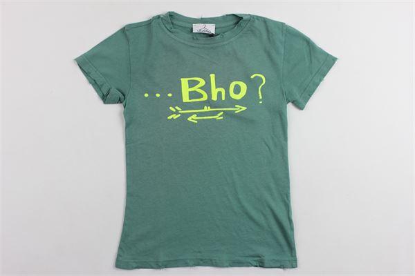 t-shirt mezza manica tinta unita con stampa BERNA | T-shirts | BRNS9044TSVERDE