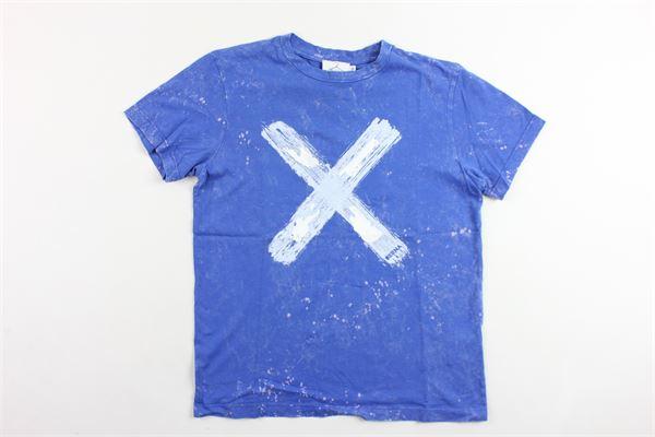 t-shirt mezza manica tinta unita con stampa BERNA | T-shirts | BRNS9075TSCOBALTO