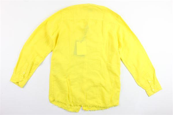camicia manica lunga tinta unita collo coreano BERNA | Camicie | BRNS9082CAGIALLO