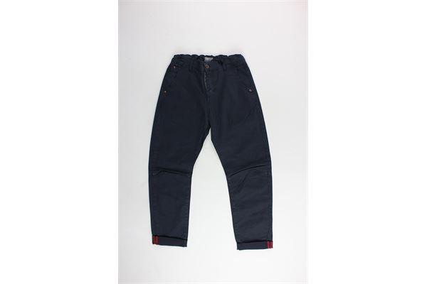 pantalone tinta unita girovita regolabile tasche america BERNA | Pantaloni | BRNS9086PABLU