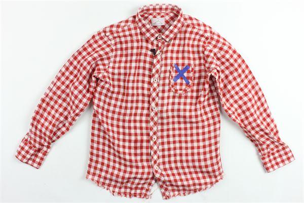 camicia manica lunga fantasia a quadri BERNA | Camicie | BRNS9099CAROSSO