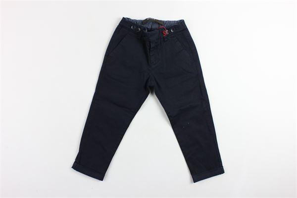 pantalone tinta unita tasca america elastico in vita BERWICH | Pantaloni | WMPA04BLU