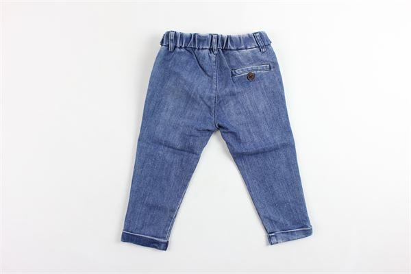 jeans tinta unita elastico in vita tasca america BERWICH | Jeans | WMPA05CE50AZZURRO