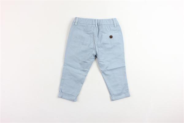 pantalone tinta unita tasca a filo girovita regolabile BERWICH | Pantaloni | WMPA08CELESTE