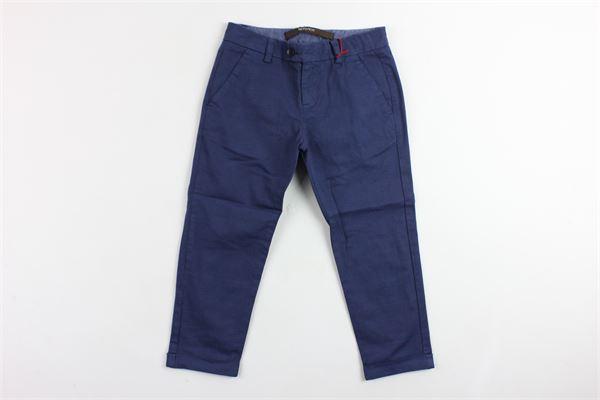 pantalone tinta unita tasca america microfantasia girovita regolabile BERWICH | Pantaloni | WMPA13BLU