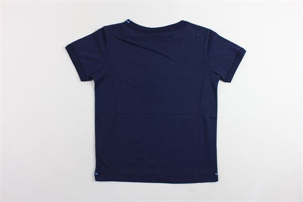t-shirt mezza manica tinta unita con stampa BEST COMPANY | T-shirts | 6802177BLU