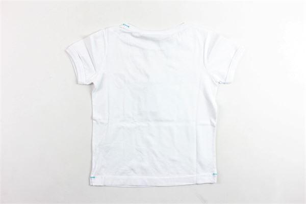 t-shirt mezza manica tinta unita con stampa BEST COMPANY | T-shirts | 680217BIANCO