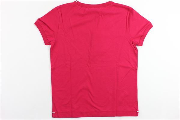 t-shirt mezza manica tinta unita con stampa BEST COMPANY | T-shirts | 680217FUCSIA