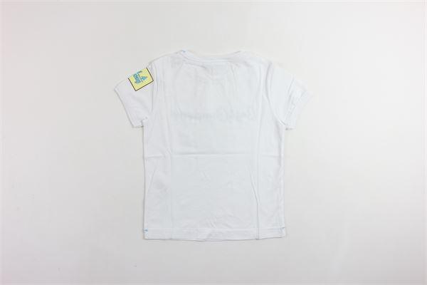 t-shirt mezza manica tinta unita con stampa BEST COMPANY | T-shirts | 680218BIANCO