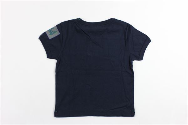 t-shirt mezza manica tinta unita con stampa BEST COMPANY | T-shirts | 680218BLU