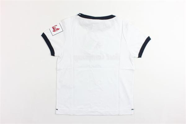 t-shirt mezza manica tinta unita con stampa BEST COMPANY | T-shirts | 680219BIANCO
