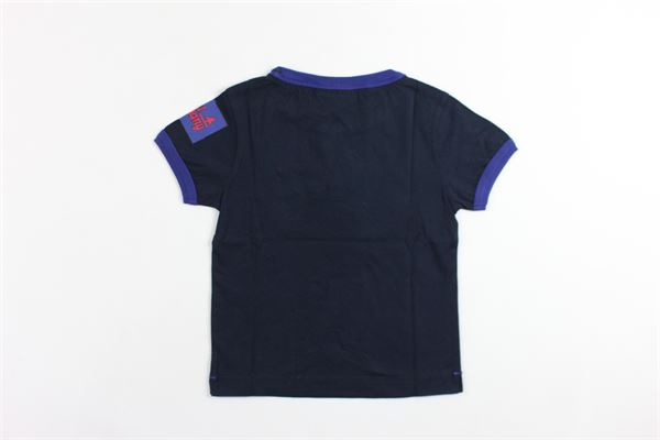 t-shirt mezza manica tinta unita con stampa BEST COMPANY | T-shirts | 680219BLU