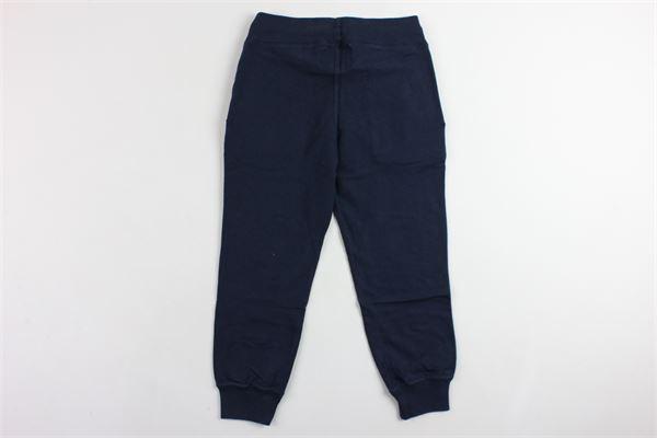 pantalone garzato in felpa tinta unita elastico in vita BEST COMPANY | Pantaloni | 680235BLU