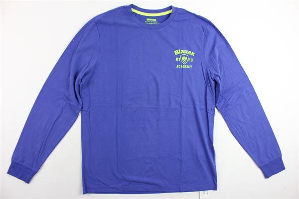 shirt manica lunga tinta unita BLAUER | Shirts | 16WBLUH01150004310COBALTO