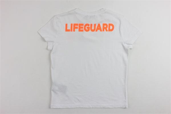 t-shirt mezza manica tinta unita con stampa BLAUER | T-shirts | 17SBLKH02356BIANCO