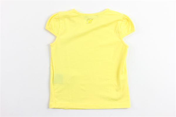 t-shirt mezza manica tinta unita con brillantini BLUMARINE | T-shirts | 36GTS64GIALLO