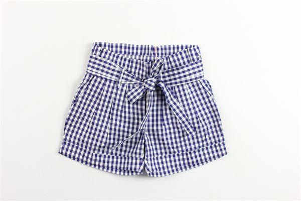 shorts in cotone vita alta con cintura fantasia a quadri BLUMARINE | Shorts | 42TPC53BLU