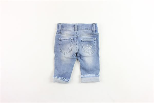 jeans 5 tasche tinta unita con brillantini BLUMARINE | Jeans | MBL0802AZZURRO