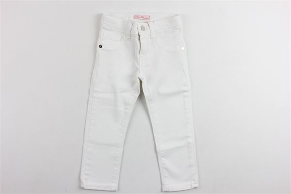 pantalone 5 tasche tinta unita BLUMARINE | Pantaloni | MBL0814BIANCO