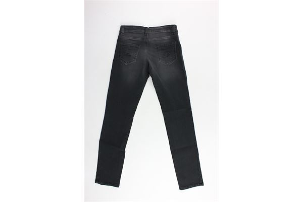 pantalone in denim tinta unita 5 tasche con brillantini BLUMARINE | Pantaloni | MBL0847NERO