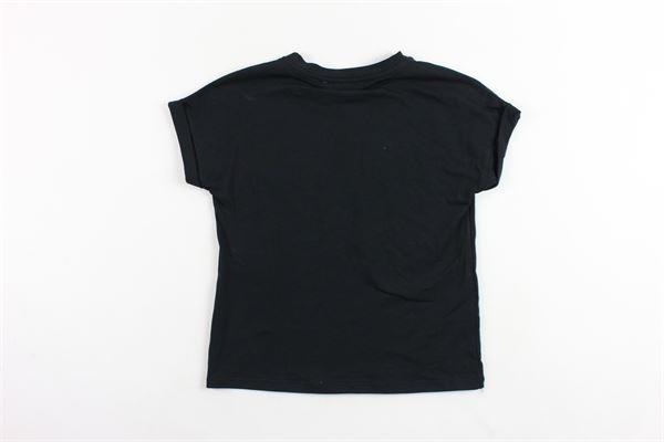 t-shirts mezza manica tinta unita con brillantini BLUMARINE | T-shirts | MBL0881NERO