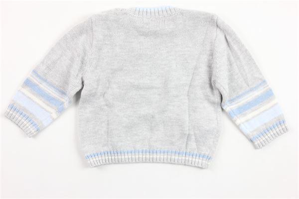 maglia manica lunga in cotone tinta unita con stampa BOBOLI | Maglie | 116097GRIGIO