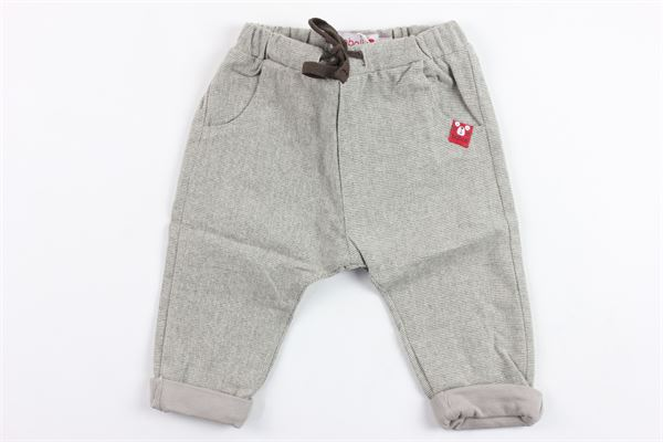 pantalone microfantasia elastico in vita BOBOLI | Pantaloni | 126087BEIGE