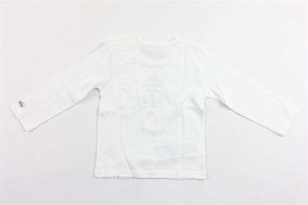 shirt manica lunga tinta unita con stampa BOBOLI | Shirts | 144054BIANCO