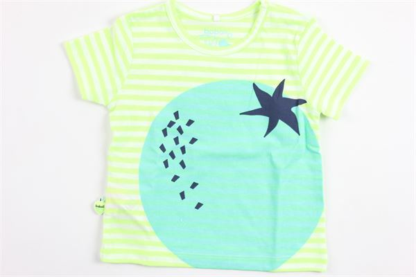 t-shirt mezza manica tinta unita con stampa BOBOLI | T-shirts | 147147VERDE