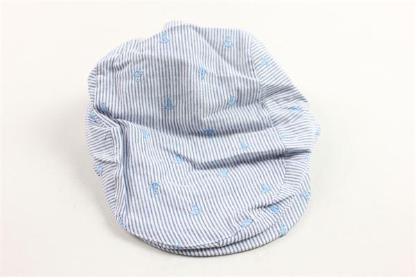 cappello modello coppola rigato con microfantasia BOBOLI | Cappelli | 307123BLU