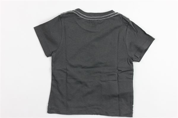 t-shirt mezza manica tinta unita con stampa BOBOLI | T-shirts | 347048GRIGIO